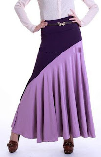 Skirt Labuh Kembang Umbrella 655 - Purple
