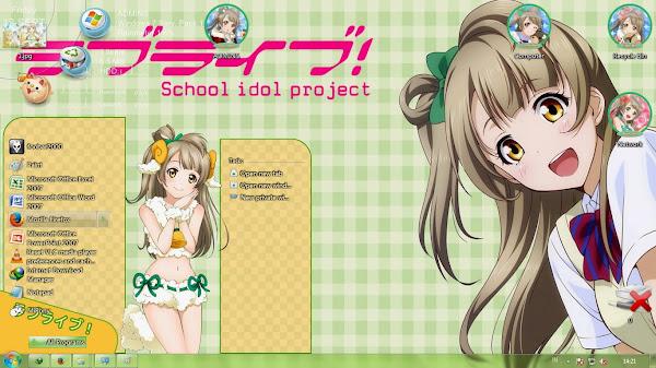 [Theme Win 7] Love Live! School Idol Project – Minami Kotori V2 By Kanza 2