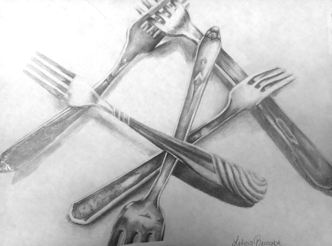 Kitchen Utensils Drawing With Names : flying shoes art studio: BACK TO SCHOOL - AP SILVERWARE DRAWINGS