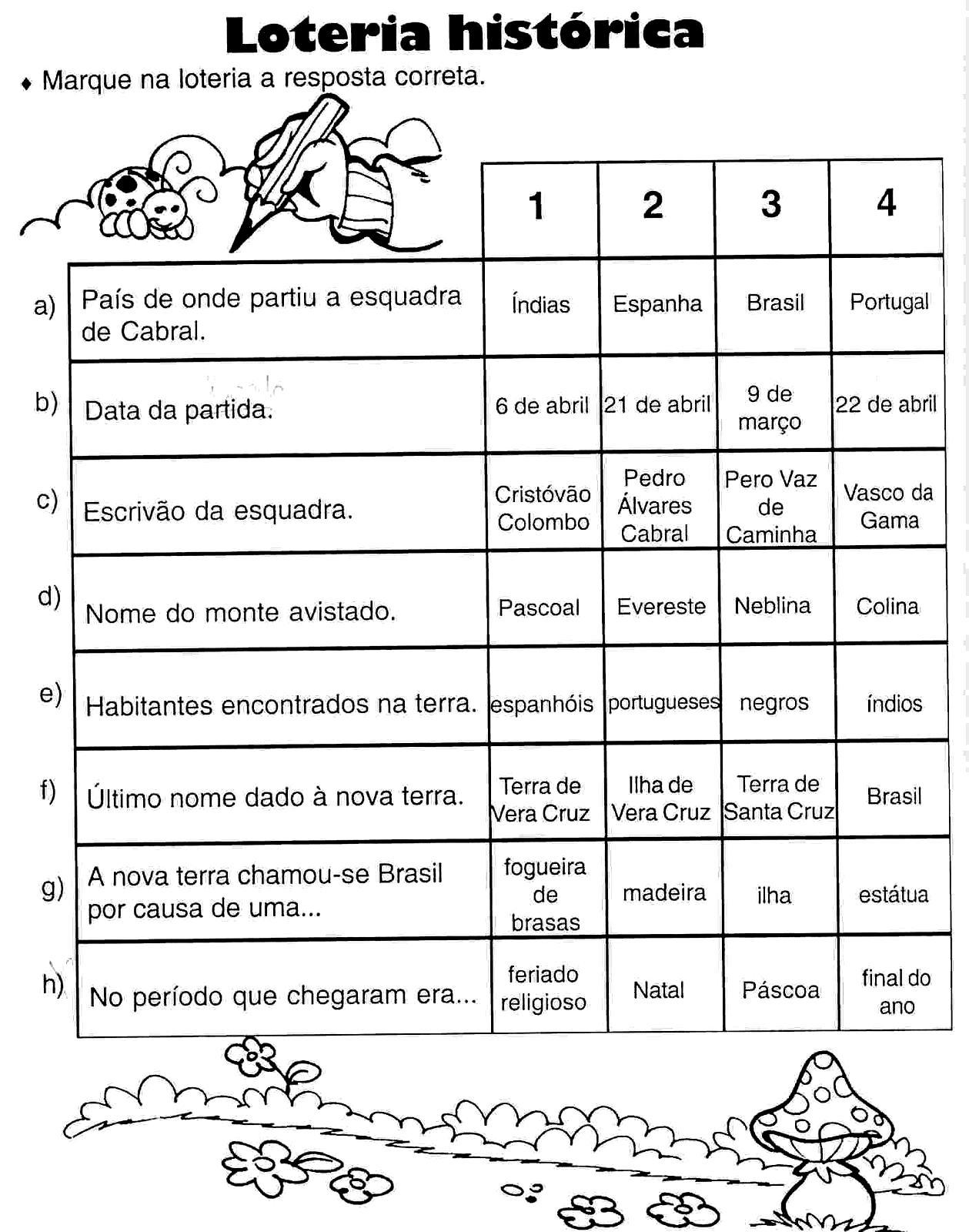 DESCOBRIMENTO DO BRASIL   ATIVIDADES