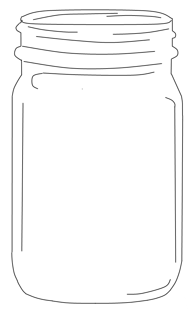 Jar+Outline+Printable Творческая мастерская