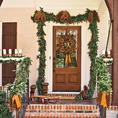 Charlotte NC Holiday Christmas Event Decorating Services #0: pincone garland l