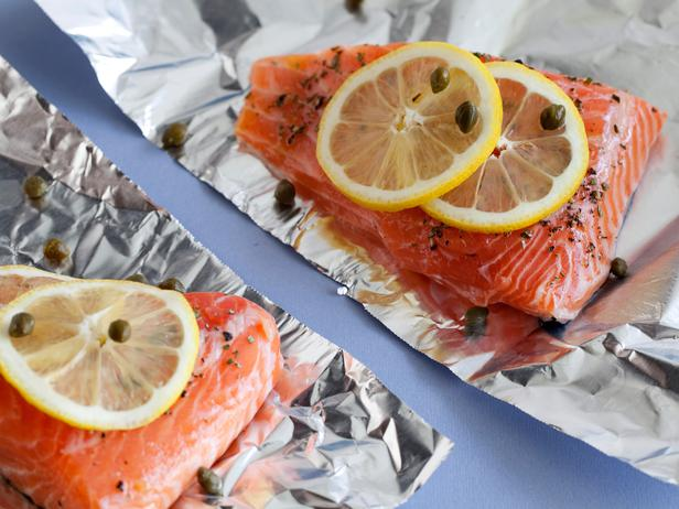 Ellie Krieger's Roasted Salmon with Shallot Grapefruit Sauce
