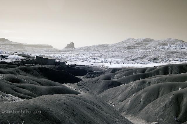 Badlands in infrared light.