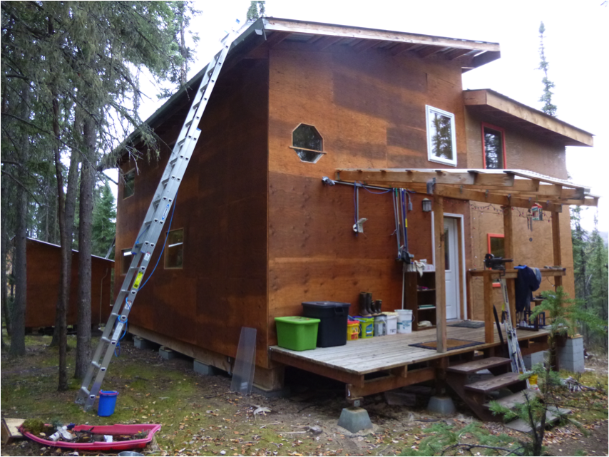 Rosebud tiny home alaska the land of the creative small for Home builders alaska