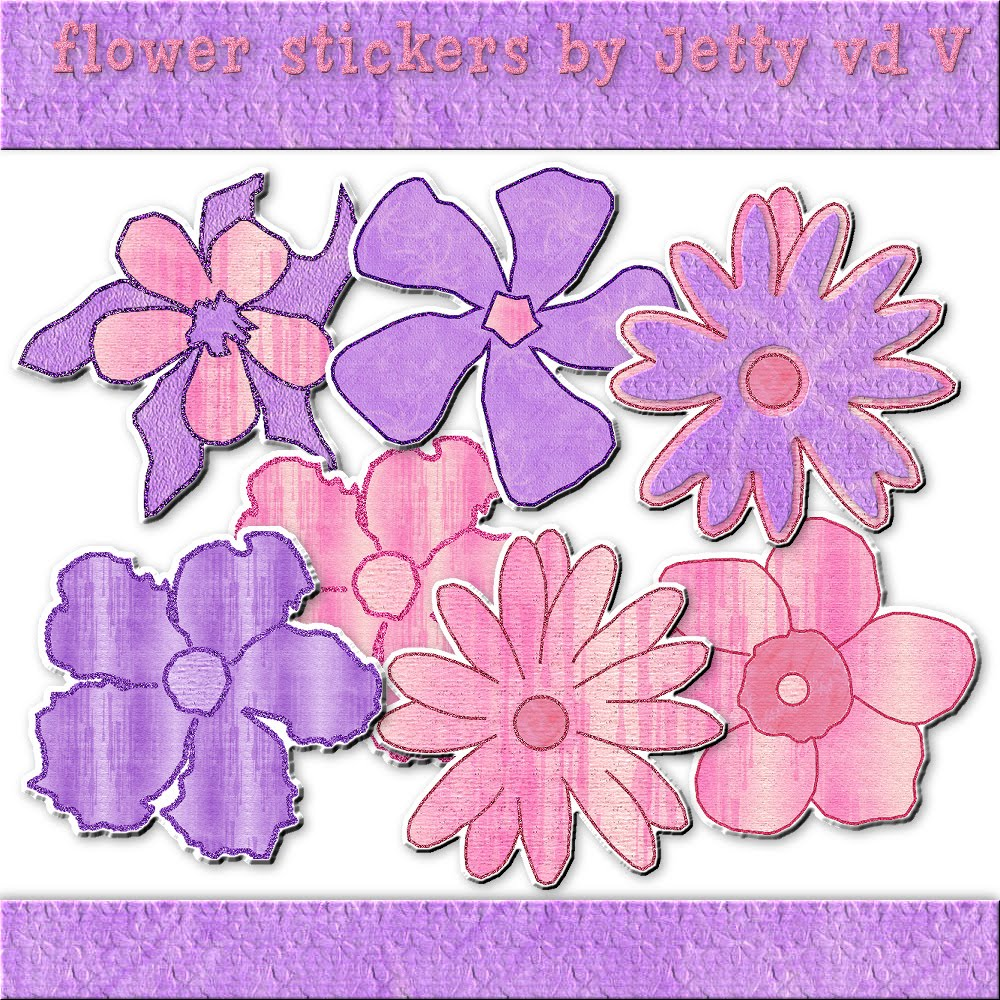 Graphics by Jetty: scraps and stuff: Flower Stickers (psp ...