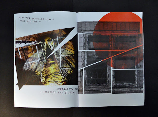 publication, zine, urbex, abandoned, inbetween places, found objects, ephemera, explore, psychogeorgraphy, manchester, situtationist, abandoned, derelict, hospital, train tickets, windows, urban, wanderings, city, flux, the everyday, question normality, intervention art, graphic design