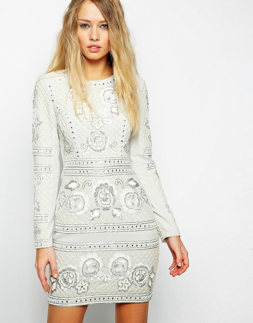 needle thread white lace dress