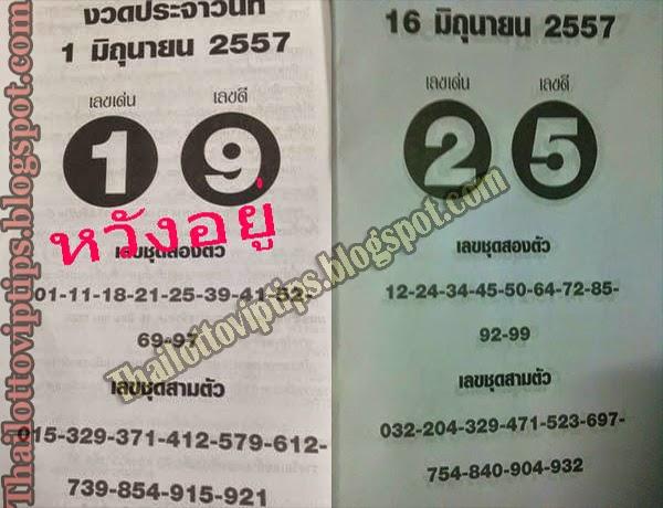 Thai Lotto Best Tip Paper 16-06-2014