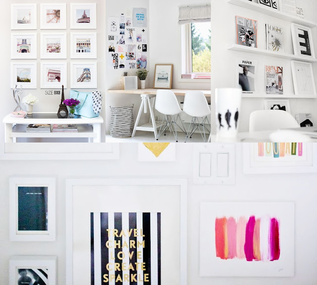 girly gallery wall