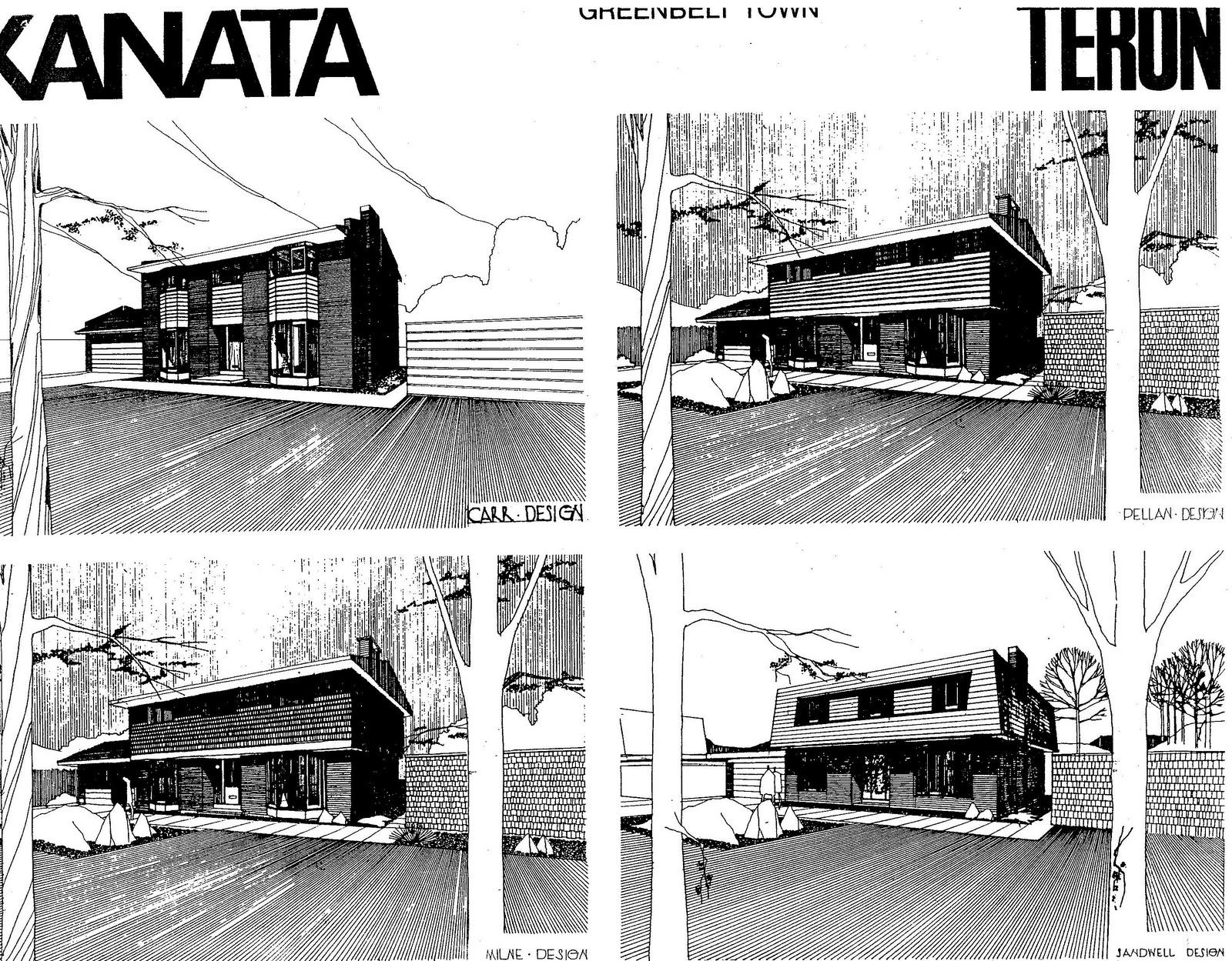 Mid century modern and 1970s era ottawa november 2011 for Modern mansard roof