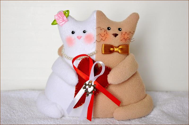 Котики неразлучники своими руками из ткани