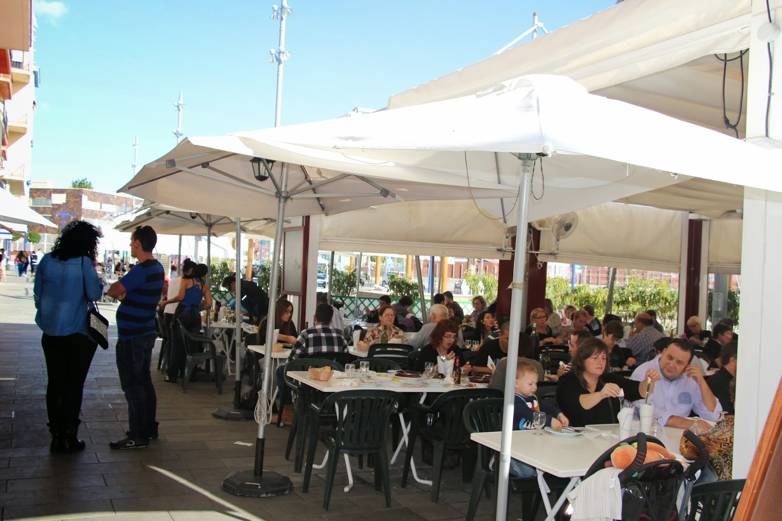 having a great fish-lunch... Tarragona, Spain