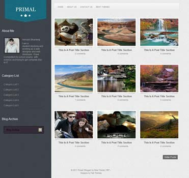 Primal blogger template. clean template for blogger template. gallery blogger template
