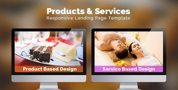 Products & Services Landing Page HTML Template