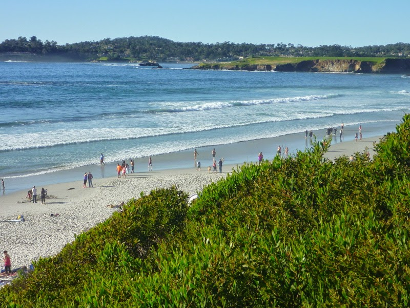 South of Pebble Beach on the Monterey Peninsula: Carmel Beach