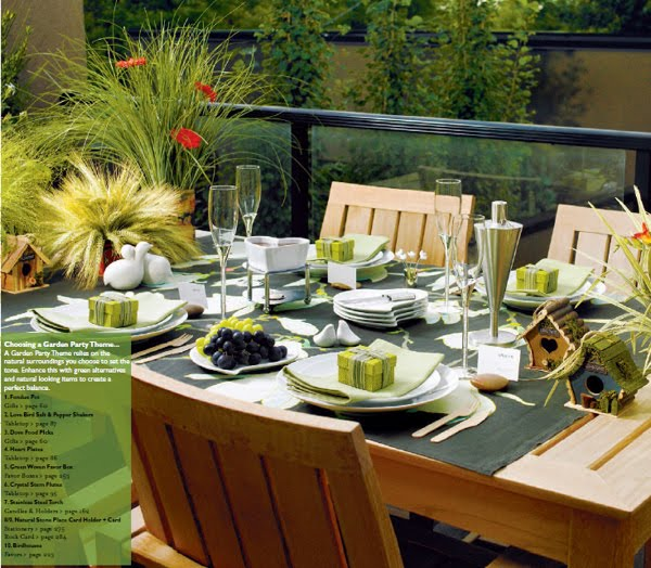 Backyard wedding table decoration ideas for Backyard decoration