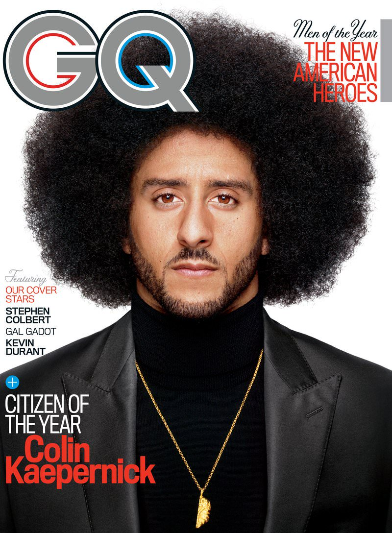 COLIN KAEPERNICK: GQ CITIZEN OF THE YEAR 2017.