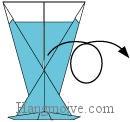 Bước 10: Lật mặt đằng sau tờ giấy ra đằng trước.
