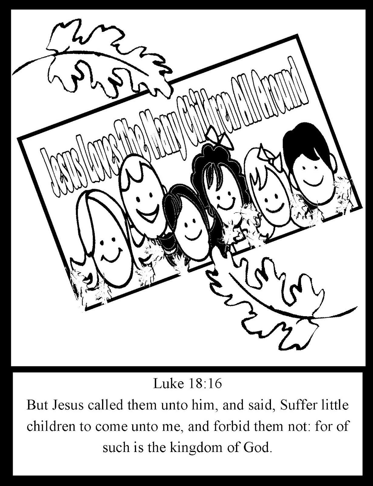 Harvest blessing in my treasure box jesus loves the many for Jesus loves the little children coloring page