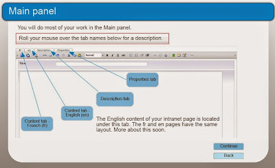 The Main Panel page in Adobe Captivate