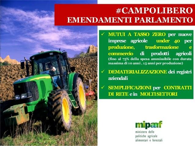 #campolibero: mutui a tasso zero per giovani imprenditori agricoli
