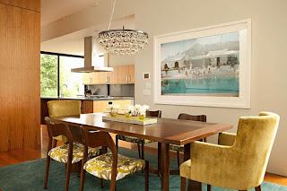meja+makan+nuansa+kuning+dan+coklat Kombinasi Warna Interior Untuk Rumah Modern