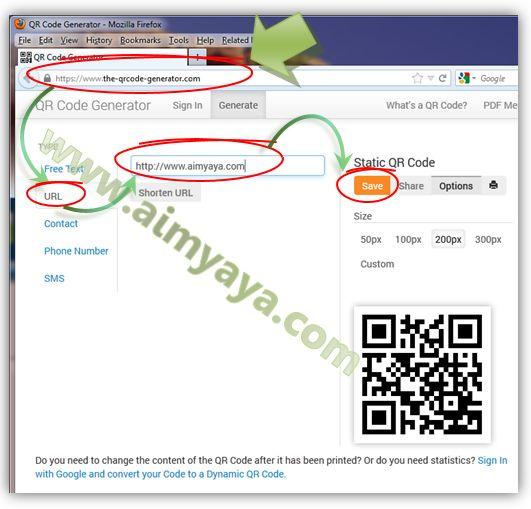 Gambar: Cara Membuat QR Code online