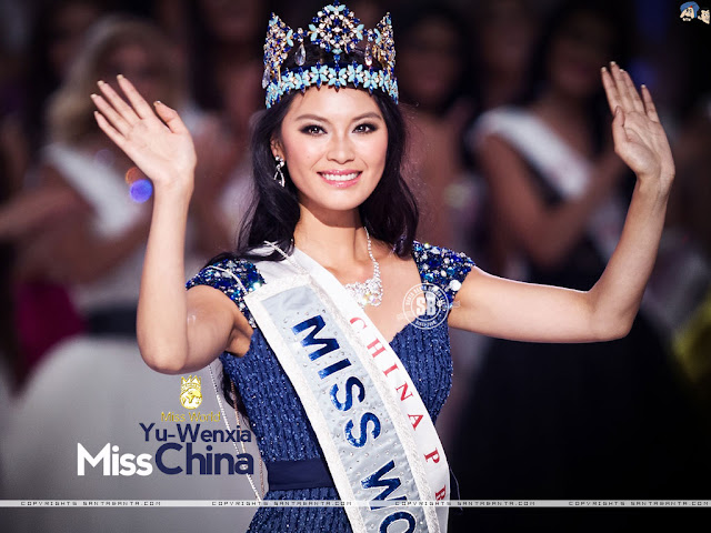 Miss World 2012 is Wenxia YU from The Peoples Republic of China