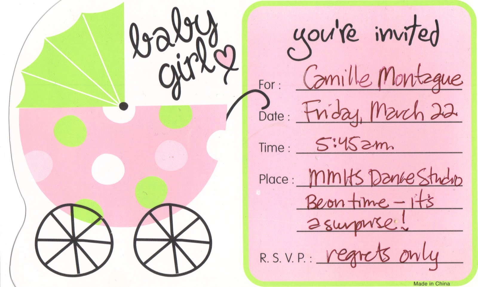 brenchley 39 s blog surprise baby shower for camille