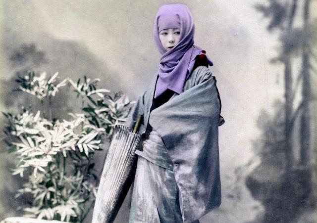 Okoso Zukin, Busana Tradisional Wanita Jepang Yang Mirip Busana Muslimah Sya'ri