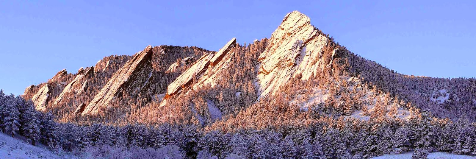 The Flatirons on the Front Range
