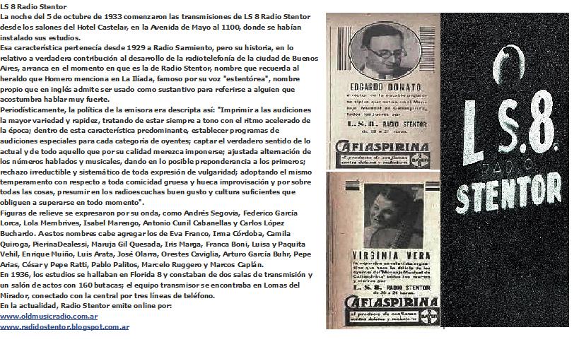 HISTORIA DE LS8 RADIO STENTOR
