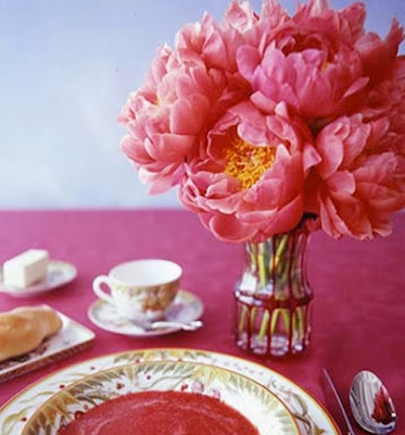 pink peony wedding centerpiece