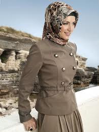 Trend Jilbab 2013 - Kreasi jilbab kerja elegan