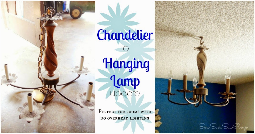 diy hanging lamp, chandelier conversion, chandelier update
