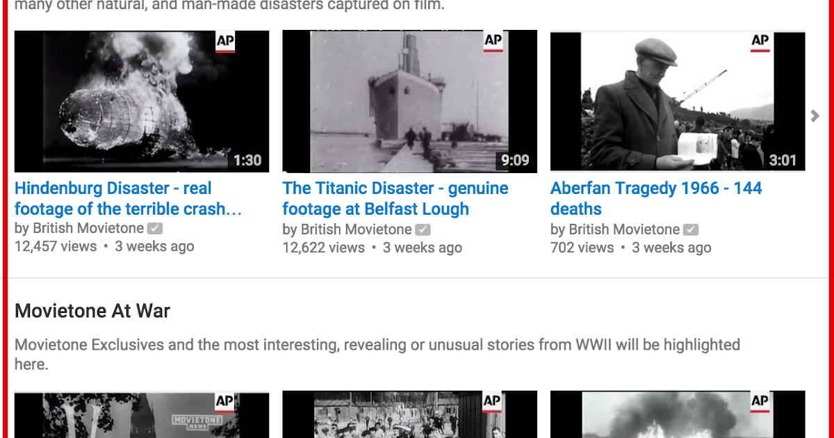New- A Treasure Trove of Historical Footage Is Now Provided for Free on YouTube