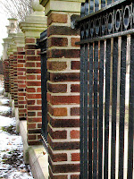 Brick And Wrought Iron Fencing3
