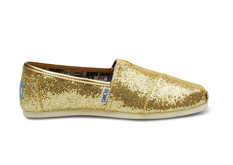 Zapatos dorados Toms para mujer QmYt6e