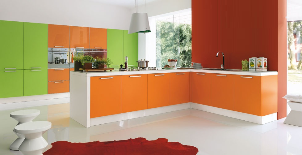 Dise os para gente atrevida cocinas con estilo - Cocinas modernas de colores ...