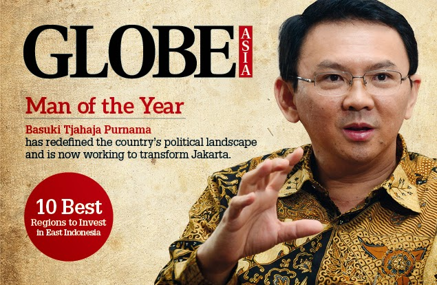 Globe Asia Pilih Ahok Sebagai Man of 2014