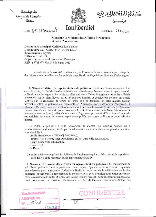 Moroccoleaks : Marruecos espíó el correo electrónico del representante saharaui en Alemania