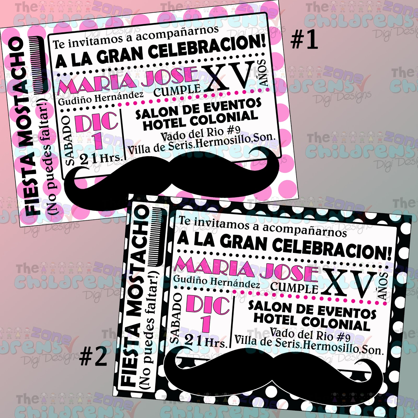 The Childrens Zone Digi Designs: Invitaciones XV Años