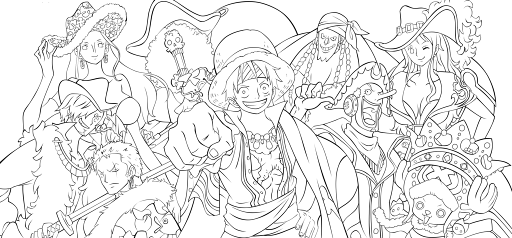 One piece para colorear