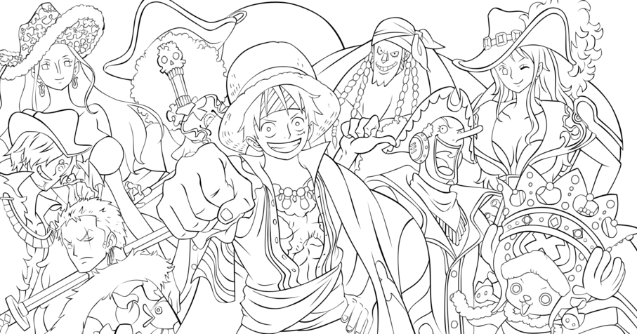 Pinto dibujos one piece para colorear for One piece dibujos