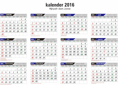 Download Template Kalender