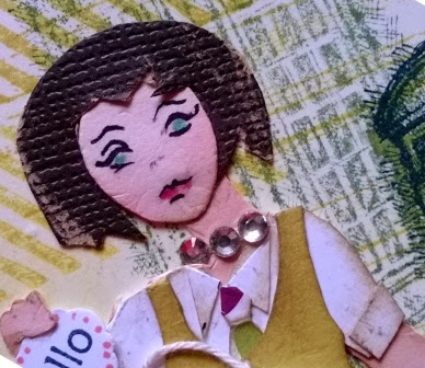 Little lady close up made by Zena Kennedy Independent Stampin Up demonstrator