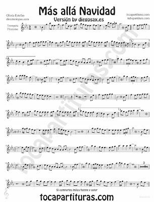 Tubescore Beyond by Gloria Estefan sheet music for Trumpet and Flugelhorn Christmas Carol Music Score Mas alla