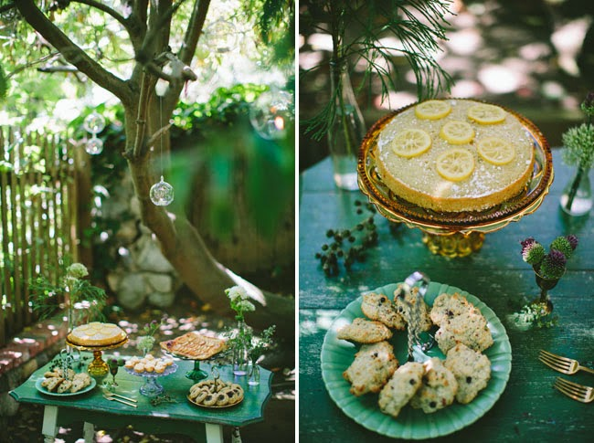 woodland wedding desserts