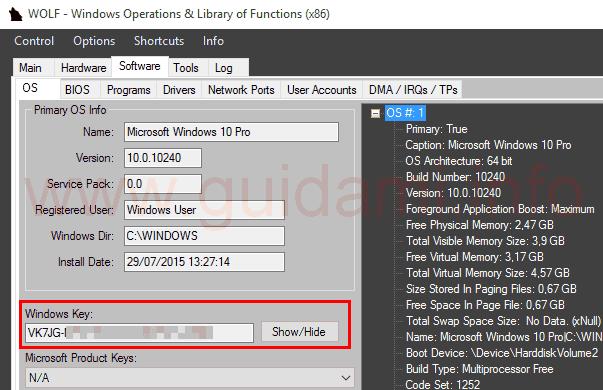 WOLF Producy Key Windows 10